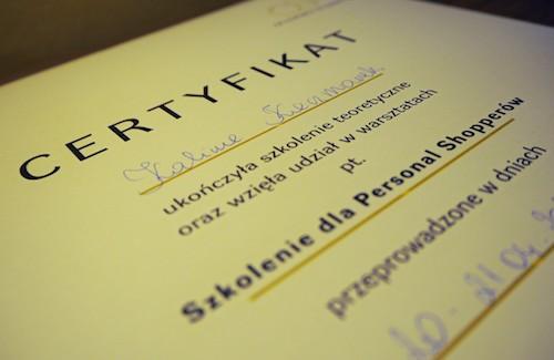 Certyfikat stylisty